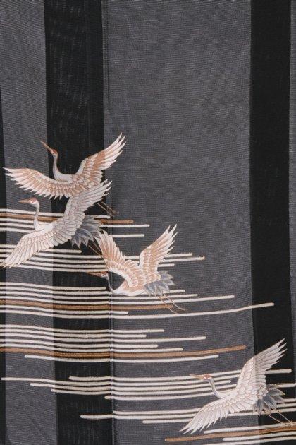 留袖(絽)3横線に鶴
