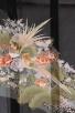 留袖(絽)27緑 松にぼたん キジ三羽