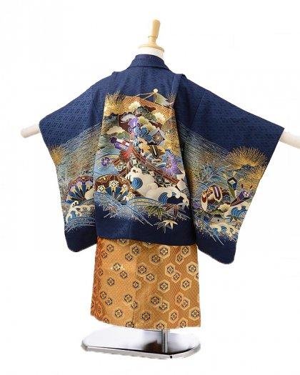 753レンタル(3歳男袴)0240紺に宝船