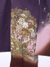 振袖4S196/紫地裾茶/エスニック柄