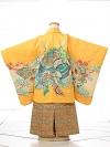七五三(3歳男袴)sftm051黄色地竜兜/蜀江紋