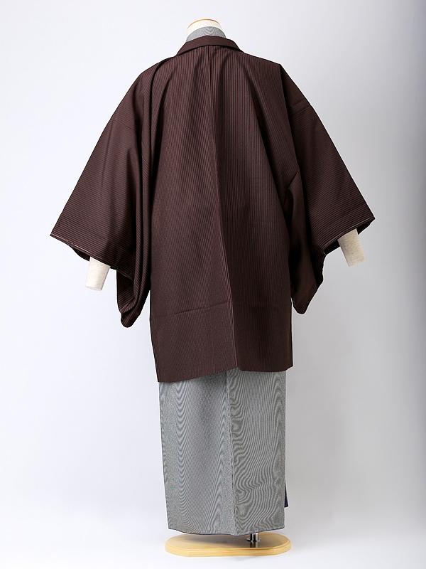 【着流し】羽織着物 HANAE MORI茶色 5号