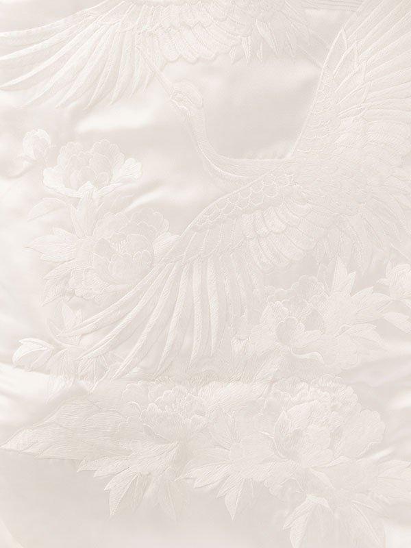 【白無垢】レンタル5612孔雀松 牡丹 鶴文