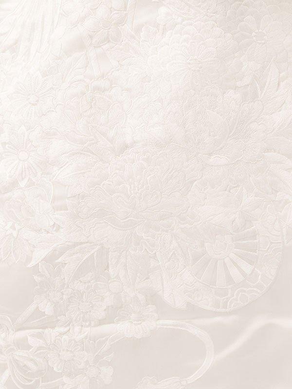 【白無垢】レンタル5464鶴に花車文様