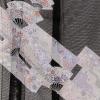 夏黒留袖tcr093華銀扇