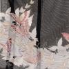 夏黒留袖tcr097白銀蝶