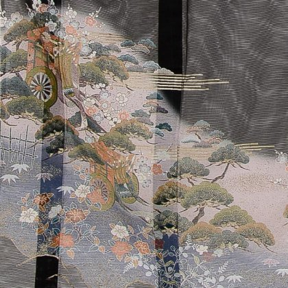 夏黒留袖tcr082御所庭