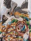 七五三(5男)5047-2 白/鷹と波