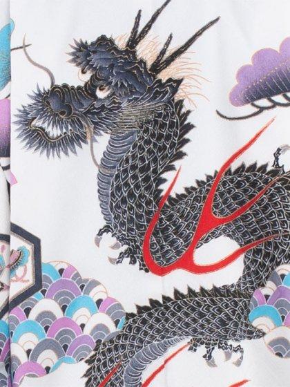 七五三(5男)5153 白色/昇り竜 袴60cm