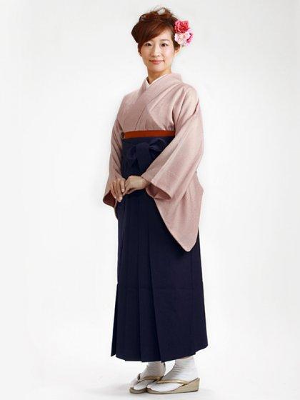 卒業式袴 正絹 薄紫 L102【身長155cm位】