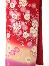 訪問着 赤 ピンク桜 6212