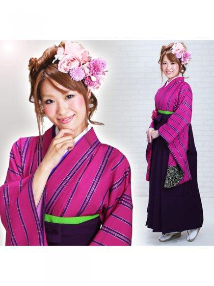 ジュニア袴 卒業式 ピンク 0243【身長150cm位】