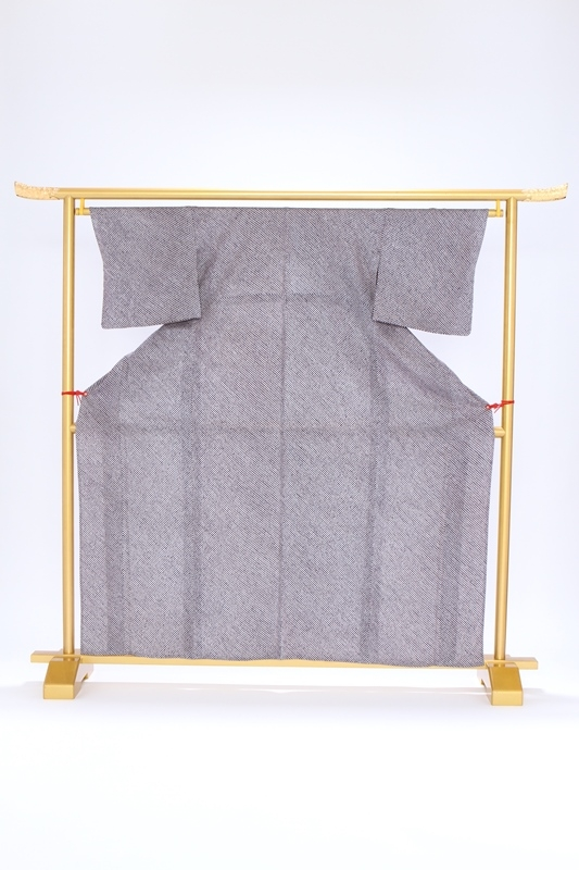 小紋(単衣)102紺色 総しぼり