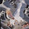 お宮参り男児76(正絹)黒地/鷹と金針松