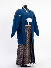 卒業式成人式袴男レンタル011*2/紺/金三ツ割り菊