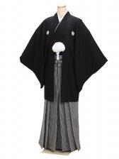 黒男紋付袴 3Lサイズ 正絹 成人式・卒業式