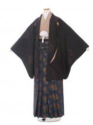 小学生卒業式袴男児1352 黒/雪和袴
