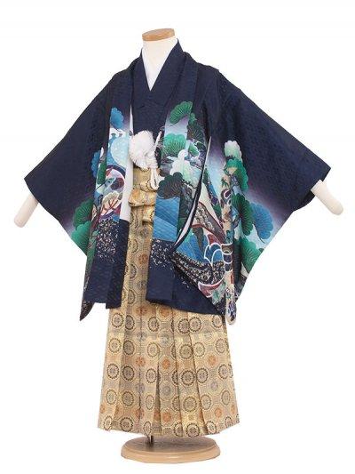 七五三レンタル(5歳男袴) 5168 紺色×鷹