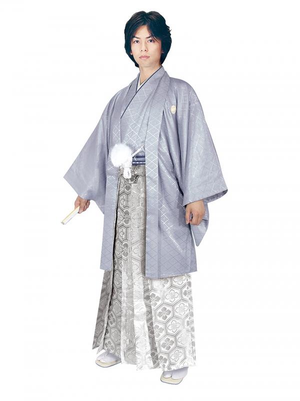 E-SV04-6-1 6号グレー紋付銀亀甲袴