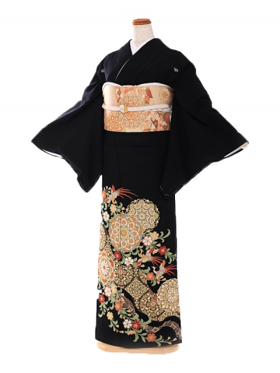 黒留袖 単衣 JAPANSTYLE 華紋鳳凰 9007