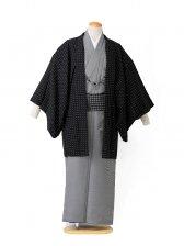 【着流し】羽織着物黒ドット HANAE MORI 5号