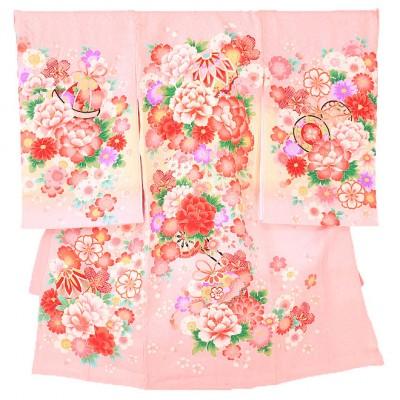 【正絹】女児産着(お宮参り) ピンク 0022