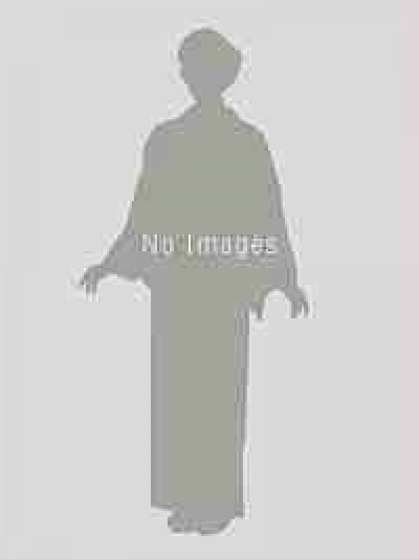 男性用紬 TM017濃苔色ウールアンサンブル