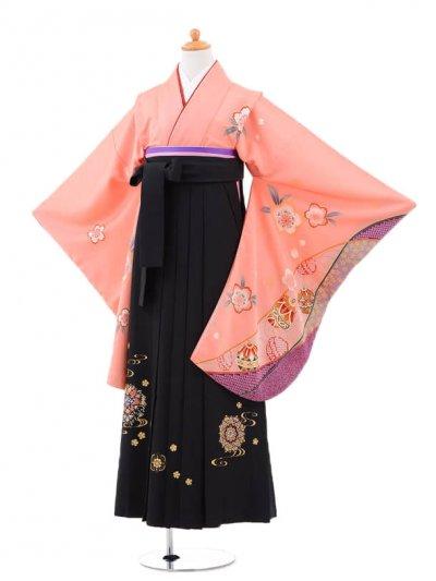 小学生卒業式袴(女の子)レンタルB045サーモン