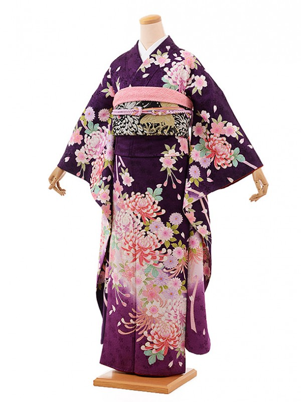 振袖484/紫/おしゃれ