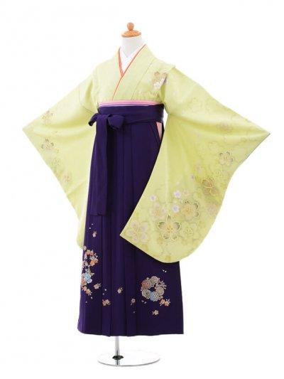 小学生卒業式袴(女の子)レンタルB005ライム
