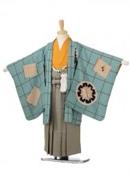 753レンタル(5歳男の子袴)0589モダンアンテナグリーン×