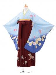小学生卒業式袴(女の子)レンタルB006水色