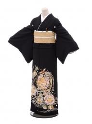 黒留袖レンタルQ4-63鳳凰花鞠