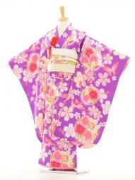 七五三(7歳女結び帯)F014乙葉紫
