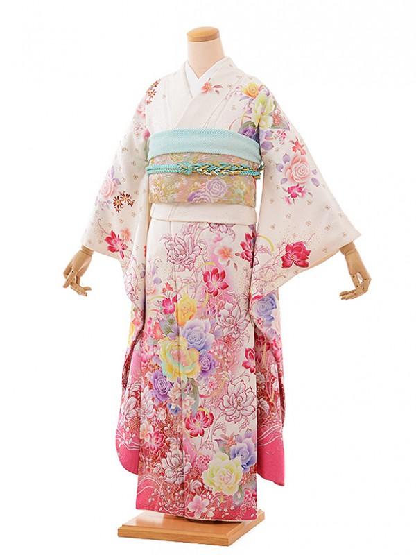 振袖528/ピンク/かわいい