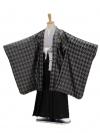 七五三(5男袴)5101 ひさかたろまん 黒×シル