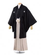 成人式卒業式袴レンタル(メンズ)D059黒ジャガード紋
