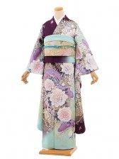振袖648/Luxjewel/紫/おしゃれ