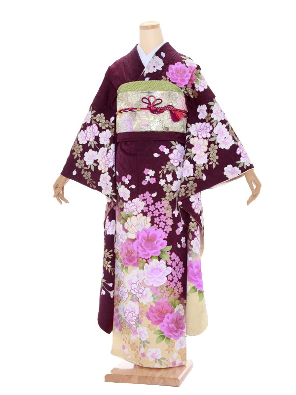 振袖406/紫/おしゃれ
