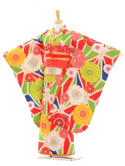七五三レンタル(7歳女の子結び帯)7197 Lako Kura 古典花