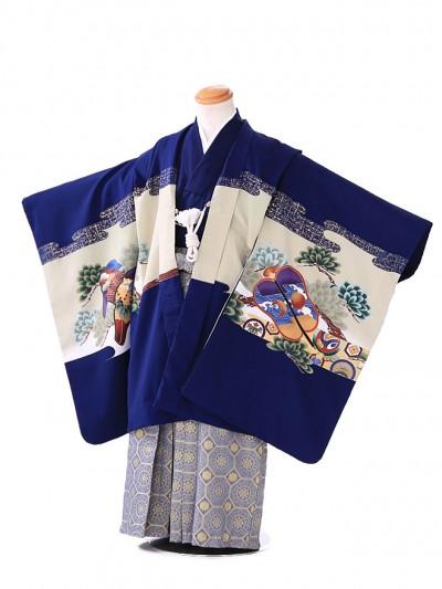 七五三レンタル(5歳 男袴)G115 青 軍配
