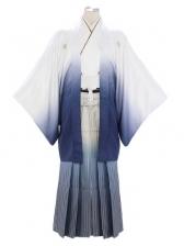 紋付袴330/青グラデーション/青線ぼかし