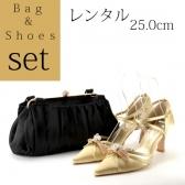 【セット】パーティーバッグ パンプス25.0cm Set006