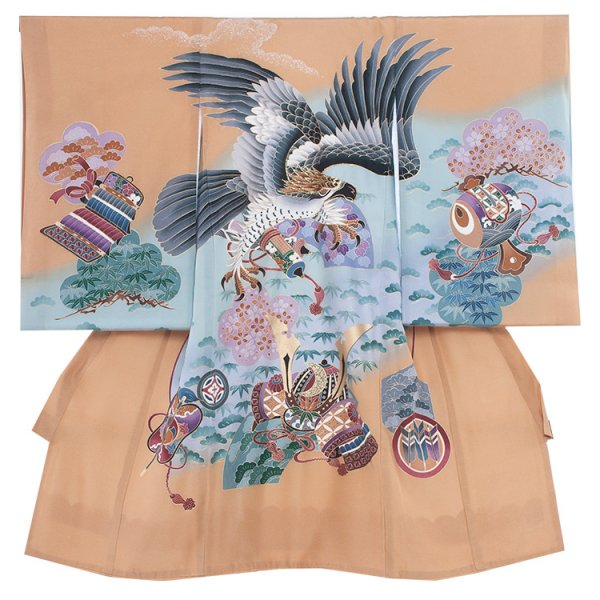 お宮参り男児211 ベージュ/鷹と桜