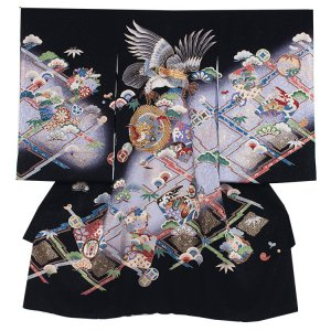 お宮参り男の子224 黒 /金糸鷹/金糸ドラゴン