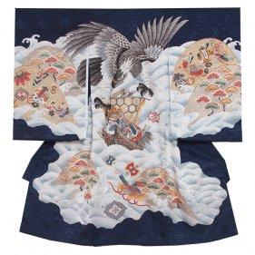 お宮参り男児123 紺/鷹と宝船
