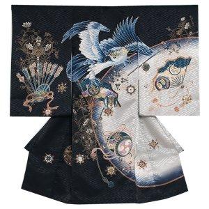 お宮参り男の子116 黒 /鷹と剣