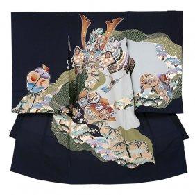 お宮参り男児114 紺地/鎧