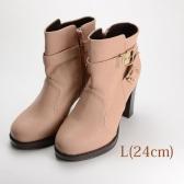 24.0 ESPERANZA ショートブーツ 10.5cmヒール ピンク