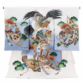 男児産着(お宮参り)1087白 鷹
